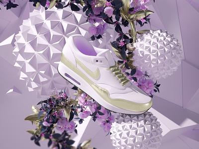 NIKE AIR EXP sneakers set render octane design cinema4d c4d 3d