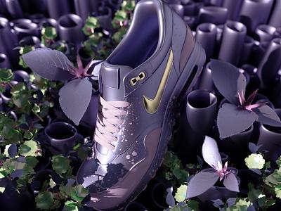NIKE AIR MAX EXPERIMENT 2 sneakers set render octane design cinema4d c4d 3d