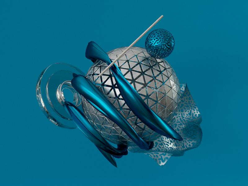 ©—Blue Shapes octane illustration cinema4d 3d c4d render motion 3d artist 3d art