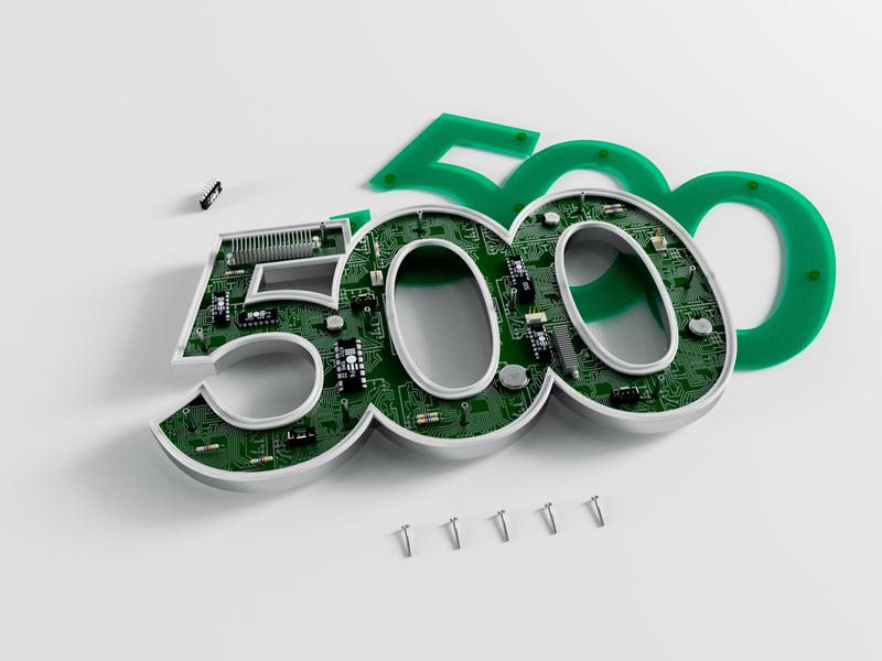 500 object cgi illustration typography type render octane cinema4d design c4d 3d