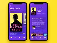 Book app concept books colourful ui ios mobile reading book app