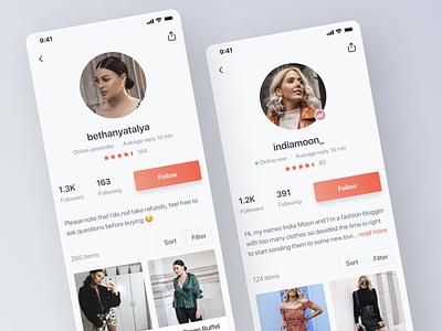 Mercari UK's new profile screen ui app ios mercari profile