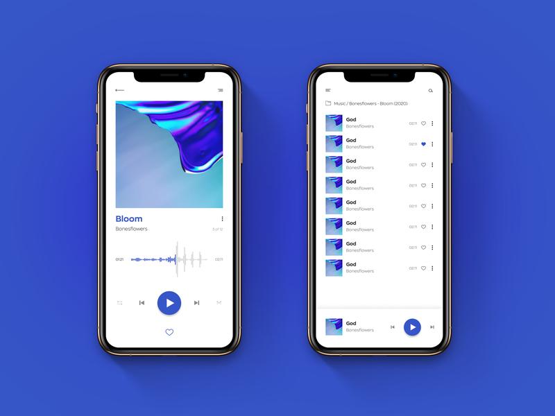 Music App ui web web  design ux design app