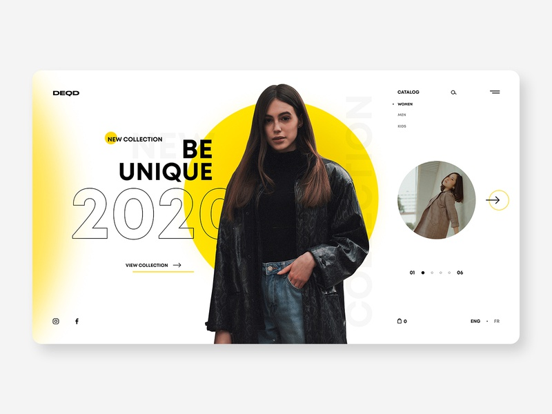 DEQD - Online store concept site website fashion ux ui web  design web branding