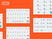 Android Material Keyboard Light PSD