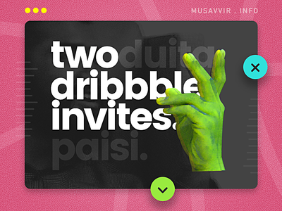 2x Invites Giveaway bengali bangla dhaka finger dribbble invite giveaway draft draftee invitation invite