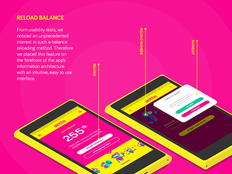 Skitto App Reload Functionality mobile payment balance payment balance load reload prepaid phone mvno cellular
