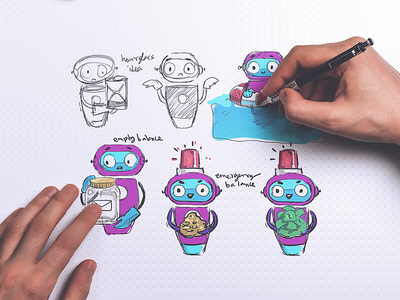 Skitto App Character Usage dynamic icon interactive icon app icon app mascot app character persona mascot character sketching