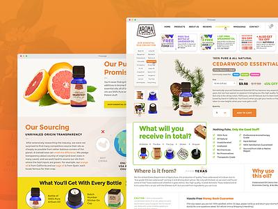 Essential Oil - Commerce Portal yellow orange ui web design ecommerce herbal scent aroma therapy herbal medicine essential oil