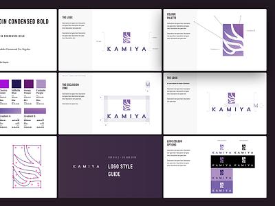 Kamiya Logo Style Guide style guide branding logo chef 神谷 kamiyama kamiya sushi japanese oriental