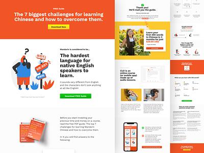 Chinese Learn Online - Landing Page figma landing page free pdf english 中文 learn language chinese