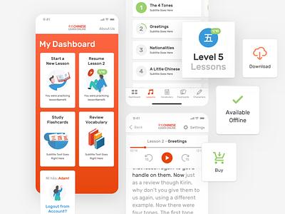Chinese Learn Online - iOS UI ios smartphone ui iphone english 中文 learn language chinese language learning
