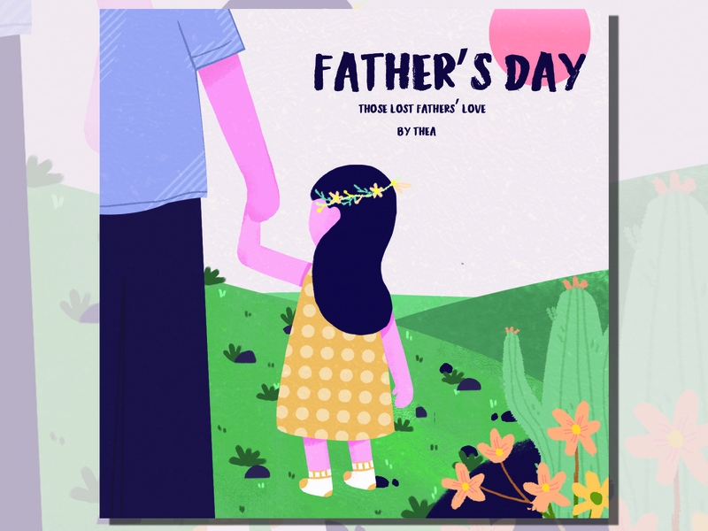 Father's Day design illustration