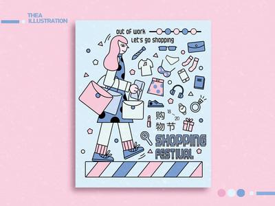 Doodle-购物节海报