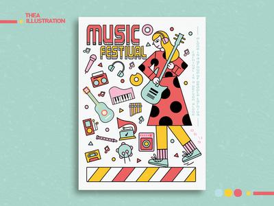 Doodle-音乐节海报