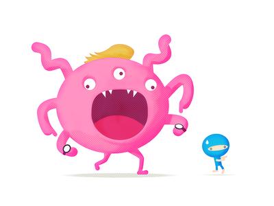 Character Illustration - Deadline Monster