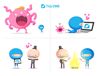 TidyCMS Characters