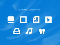 "Apple OSX ""Cirrus Concept"" -  Icons"