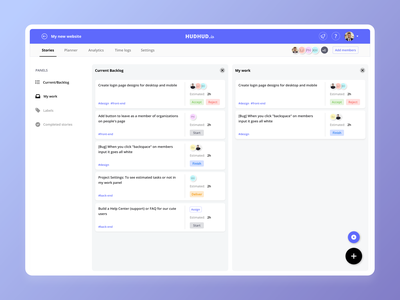 Project management and time tracking app design ux time tracking task management to do app to do list tasks task list calendar management sprint