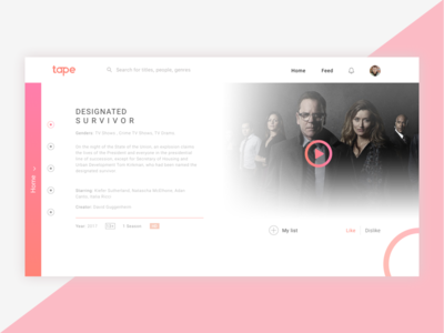 Tapenet - Movie page