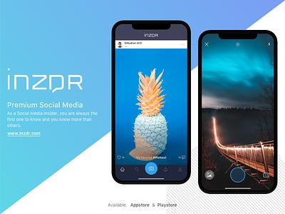 iNZDR - Premium Social Media app ios appstore gallery livephoto camera timeline home media social premium inzdr