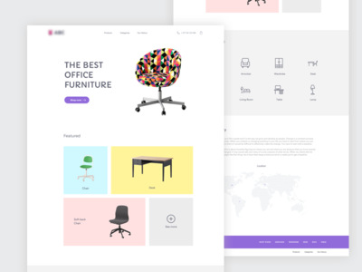 Furniture Landing page ecommerce store chair ui web design page landing furniture