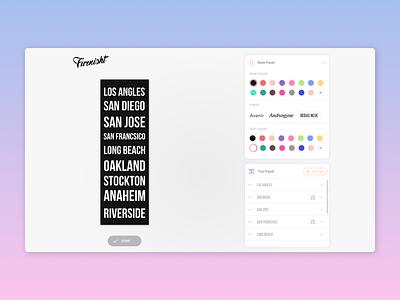 Furnisht.com - Custom bus scroll and subway style prints. design colors print ux dashboad ui editor