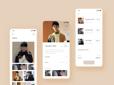 E-commerce - Mobile app concept