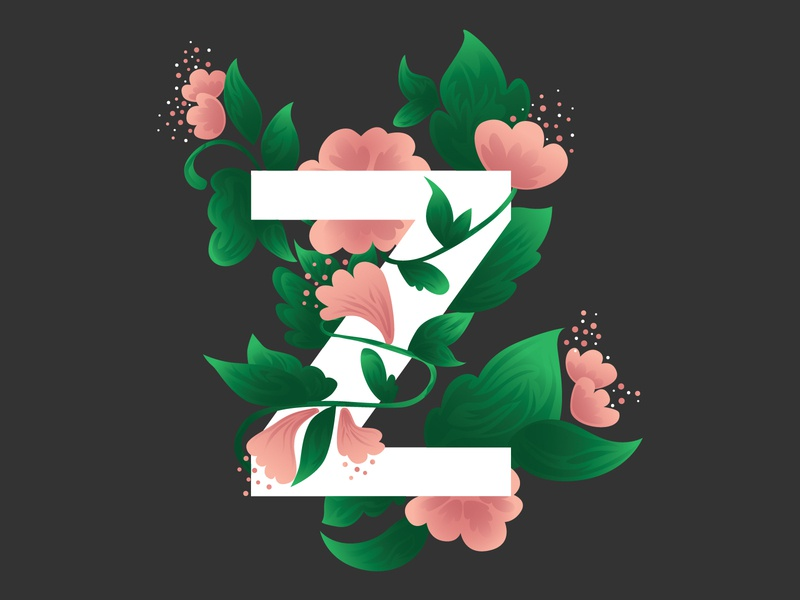 Single letter logo with flowers flower flower illustration daily logo challenge simple design pastel drawing digital drawing branding logo vector illustration design