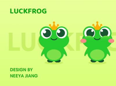 frog logo design illustration