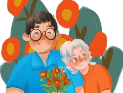 Ipad painting valentine's day