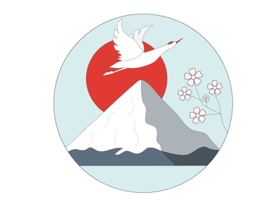Japan crane vector illustration design