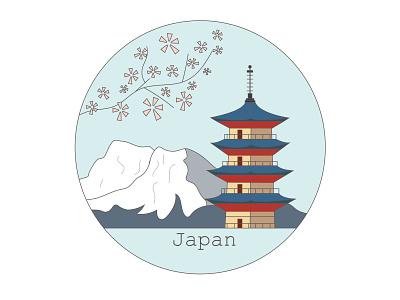 Japan vector illustration design