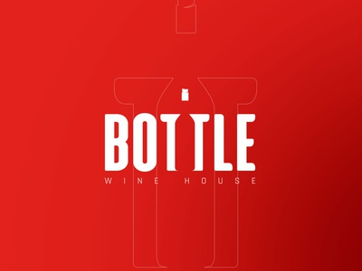 Bottle Wine House Logo Design