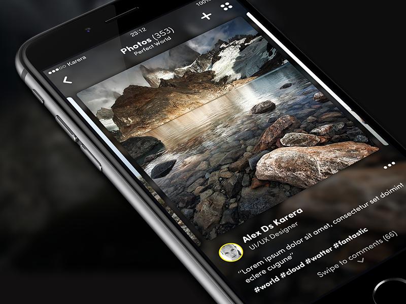 Photo Details app ui ux apple photos details ios8 social travel osmium iphone 6 iphone app