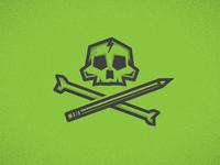 Skull + Cross Pencil