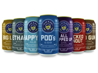 Blue Blood Brewing Can Line Up