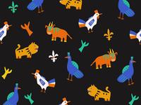 Pattern Benin - France