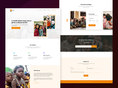 HDCF - Landing page design landing page ngo charity ux ui user interface design user experience product design figma design