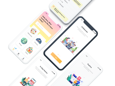 E-learning App for Teens user experience user interface design product design figma app design ux ui