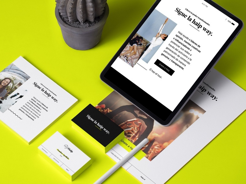 Haip real real brand real agency haip branding art direction app
