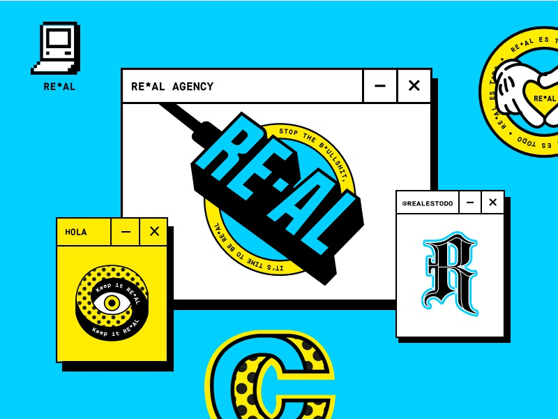 RE*AL real agency real art graphic illustration graphic design real brand branding art direction