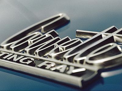Stingray letters label 3d render cgi model cg denbrooks corvette stingray wip