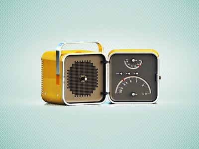 Brionvega brionvega icon brooks yellow retro radio