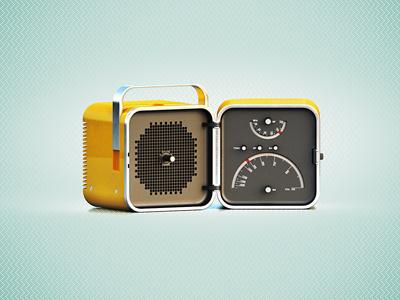 Brionvega brionvega icon brooks yellow retro radio