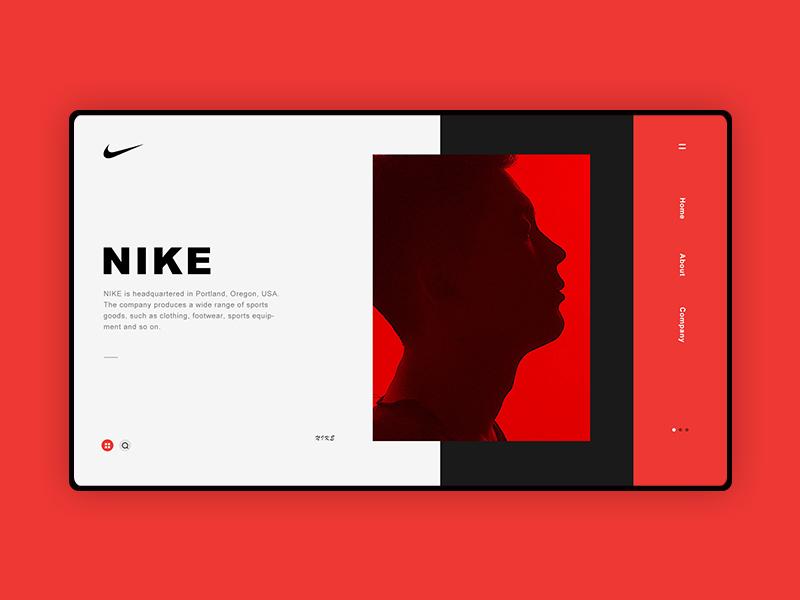 NIKE WEB ui web design