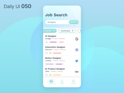 Daily Ui 050 - Job Listing
