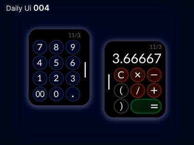 Daily Ui - 004: Calculator