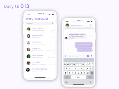 Daily Ui 013 - Direct Messaging