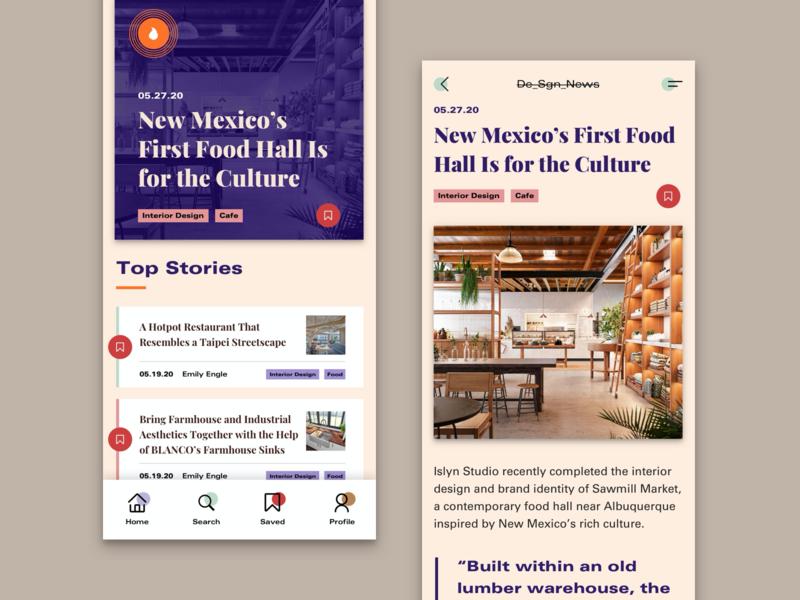 Design News App color news concept clean web ui typography minimal flat design app